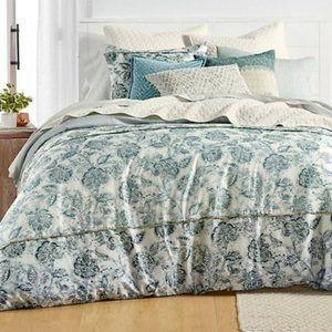 Lucky Brand Home Batik Floral 3 PC Duvet Cover Set